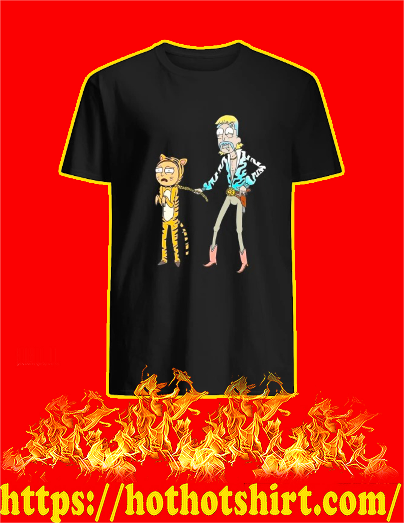 Rick and Morty Tiger King shirt