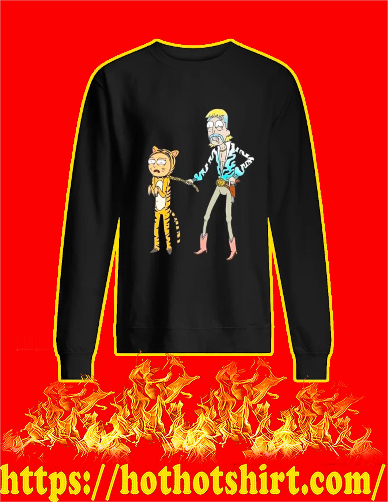 Rick and Morty Tiger King t-sweatshirt