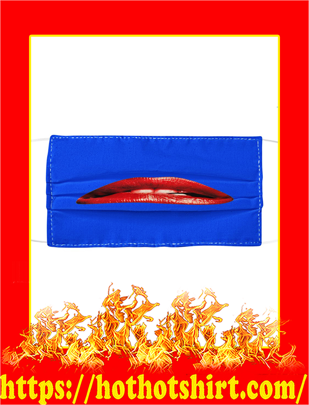 Rocky Horror Lips Cloth Face Mask- blue