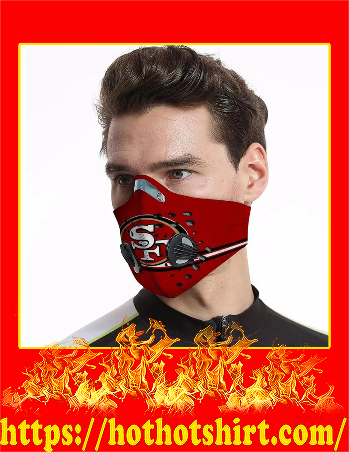 SF 49ers filter face mask - Pic 1