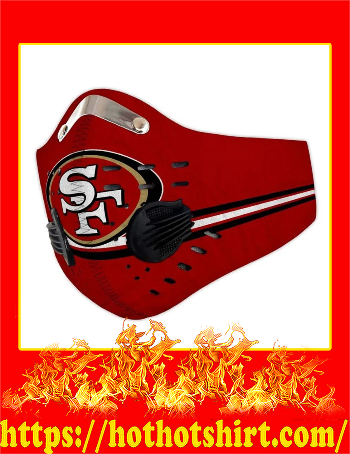 SF 49ers filter face mask