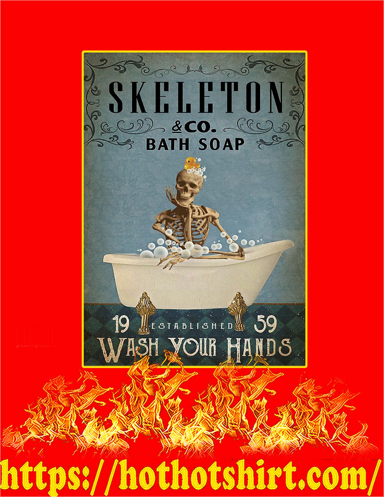 Skeleton Co Bath Soap Wash Your Hands Poster - A3