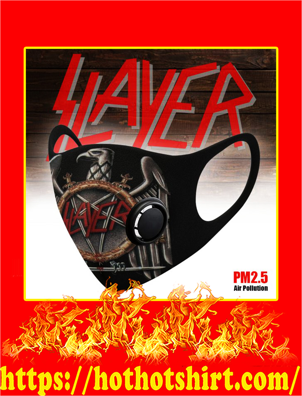 Slayer band filter face mask
