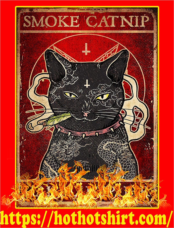Smoke catnip hail lucipurr poster - A1