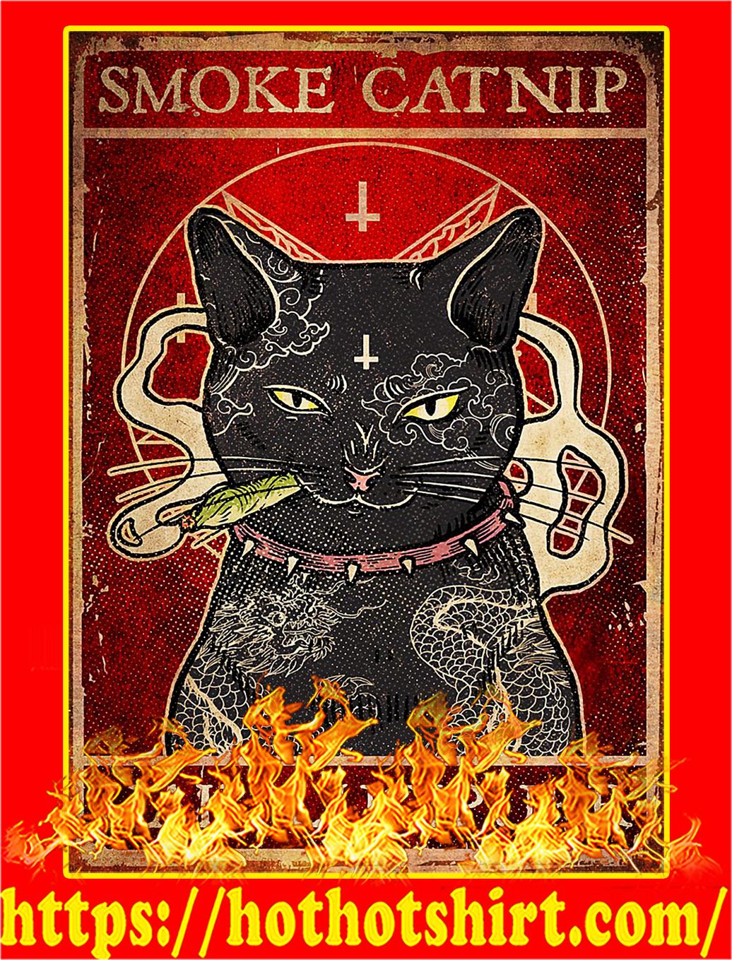 Smoke catnip hail lucipurr poster - A2