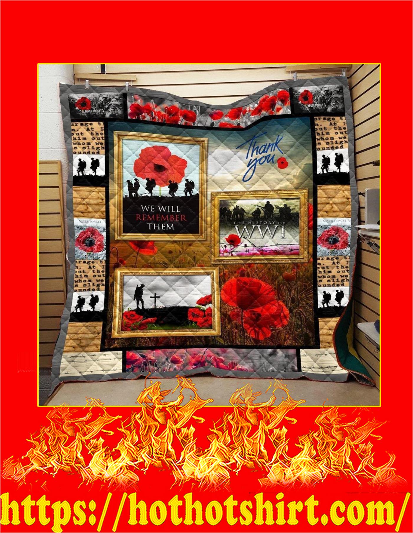 Solddier autralian new zealand poppy veteran quilt - Twin