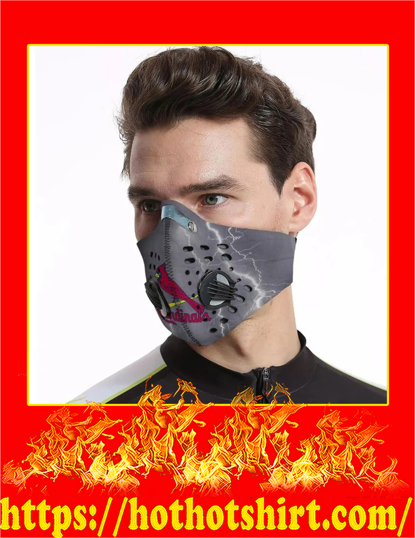 St louis cardinals filter face mask - Pic 3