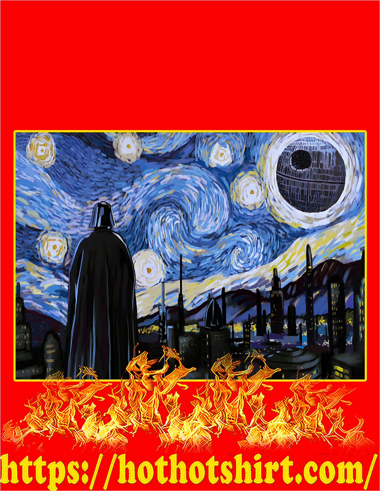 Star wars starry night poster - A3