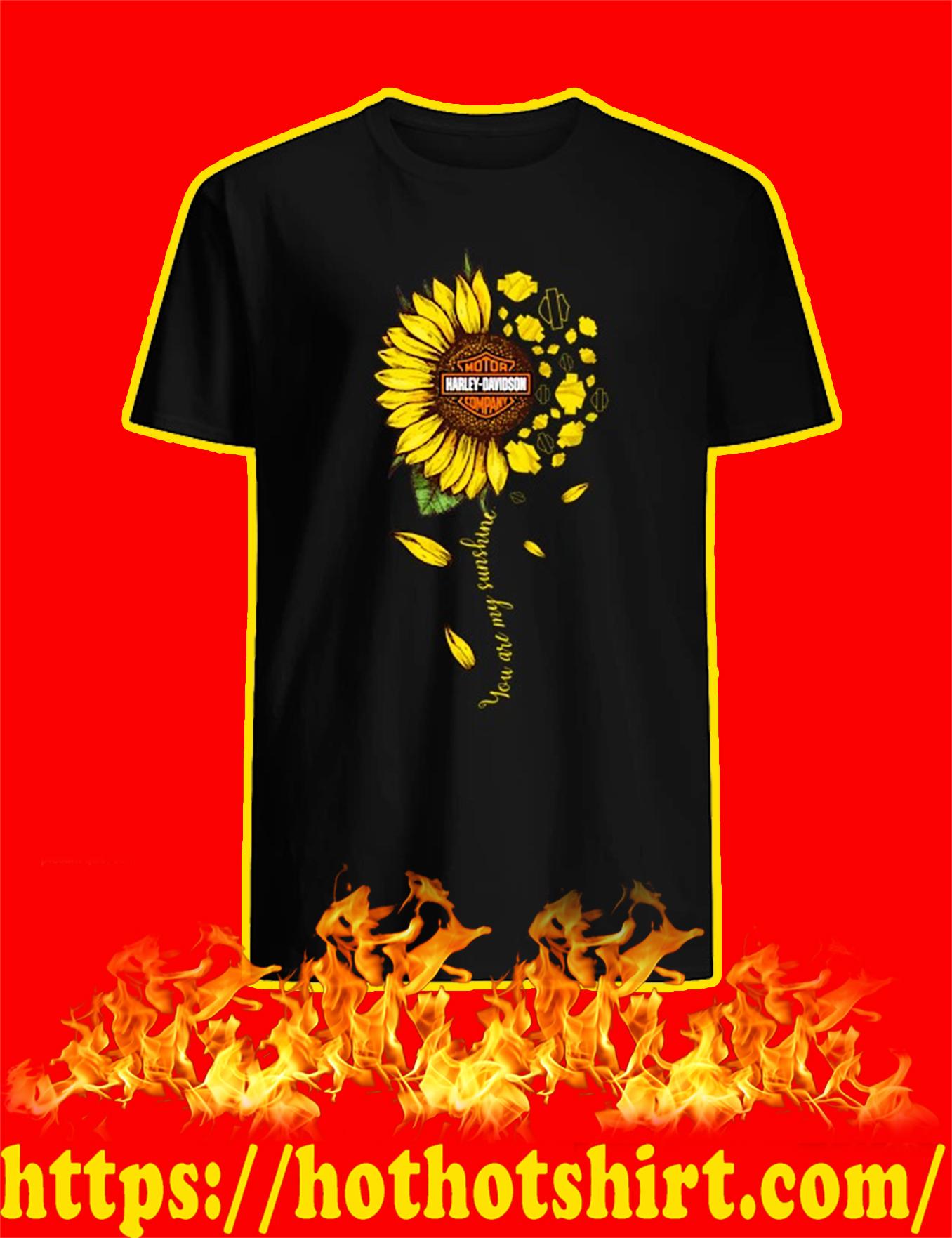 Sunflower harley davidson you are my sunshine shirt