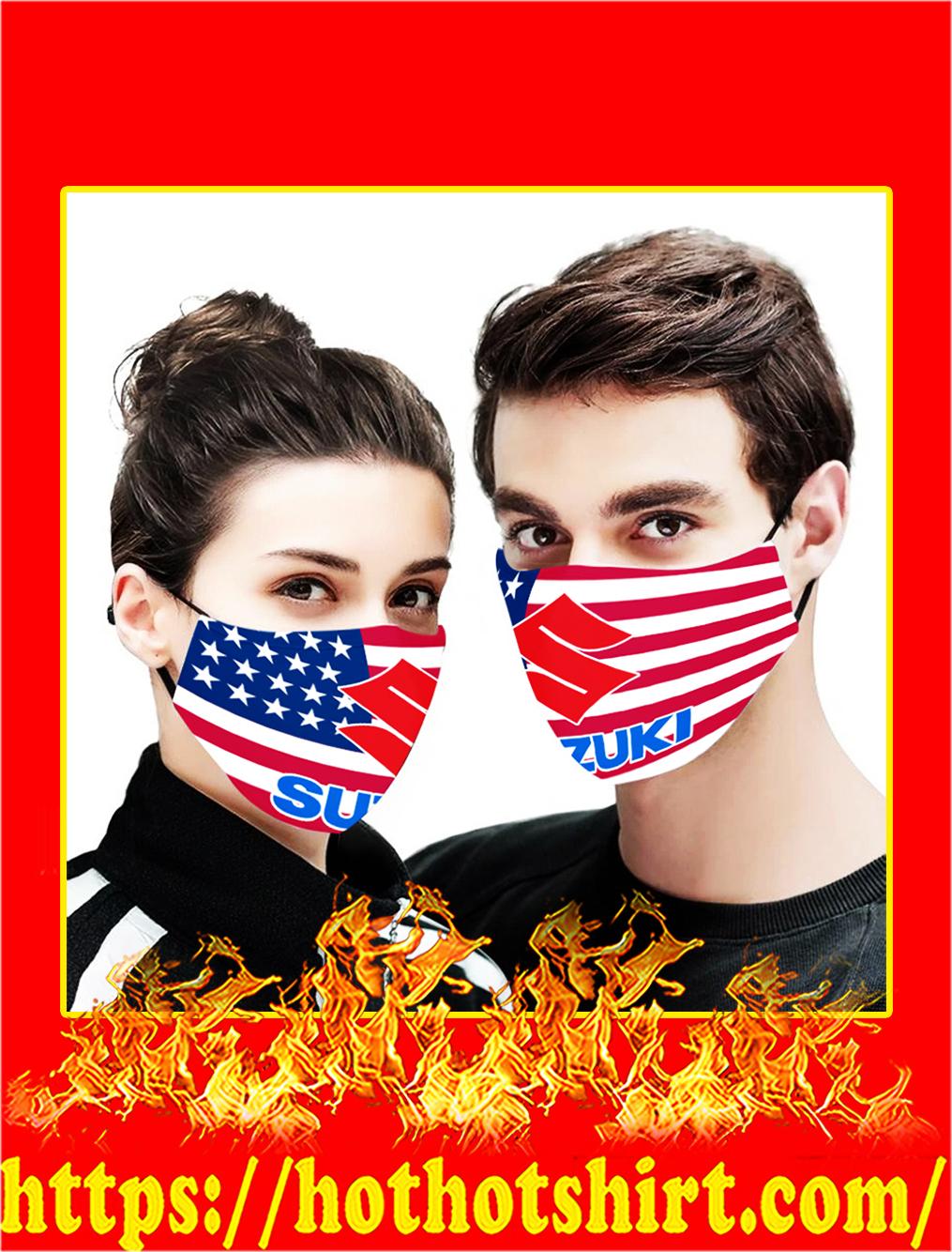 Suzuki flag US face mask- pic 1