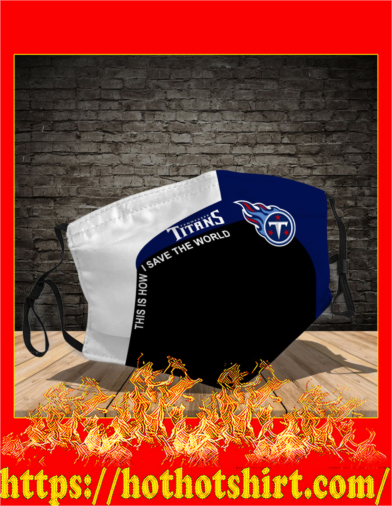 Tennessee Titans 3d face mask - detail