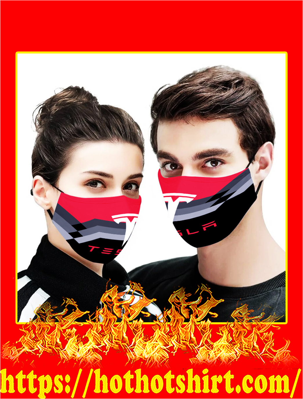 Tesla 3d face mask- pic 1