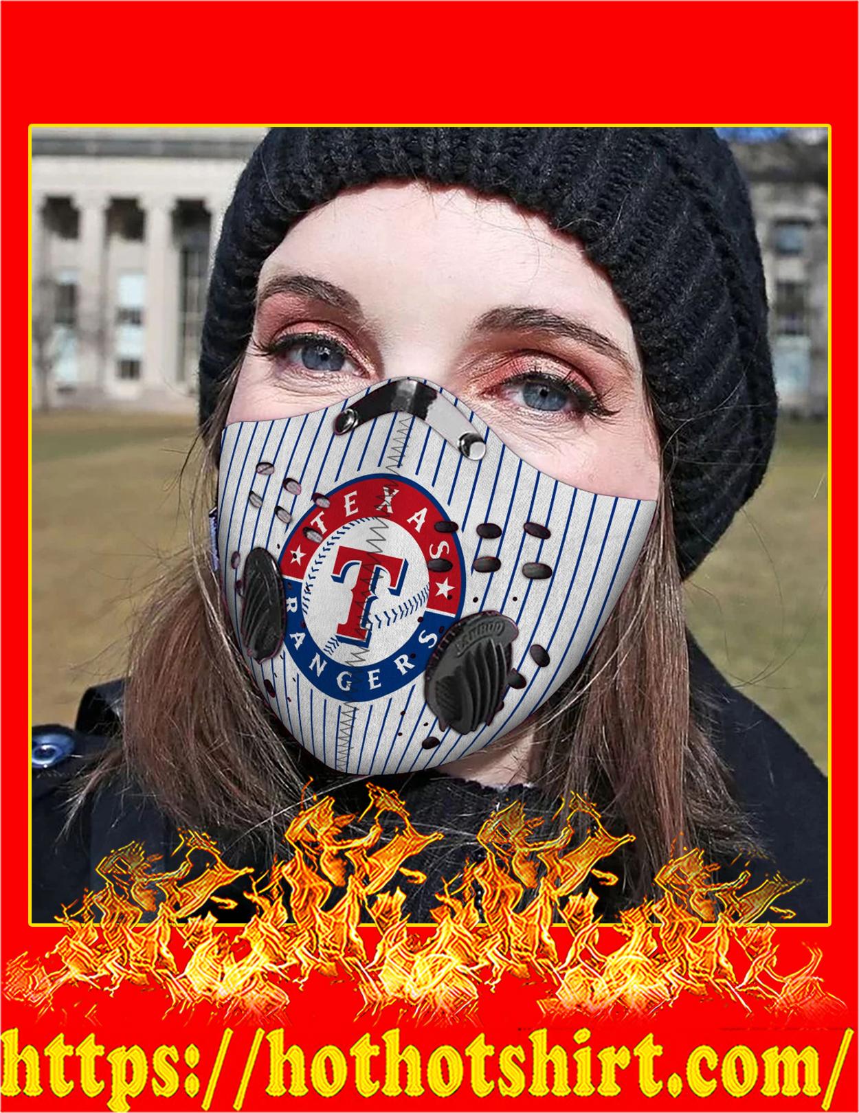 Texas rangers filter face mask - Detail