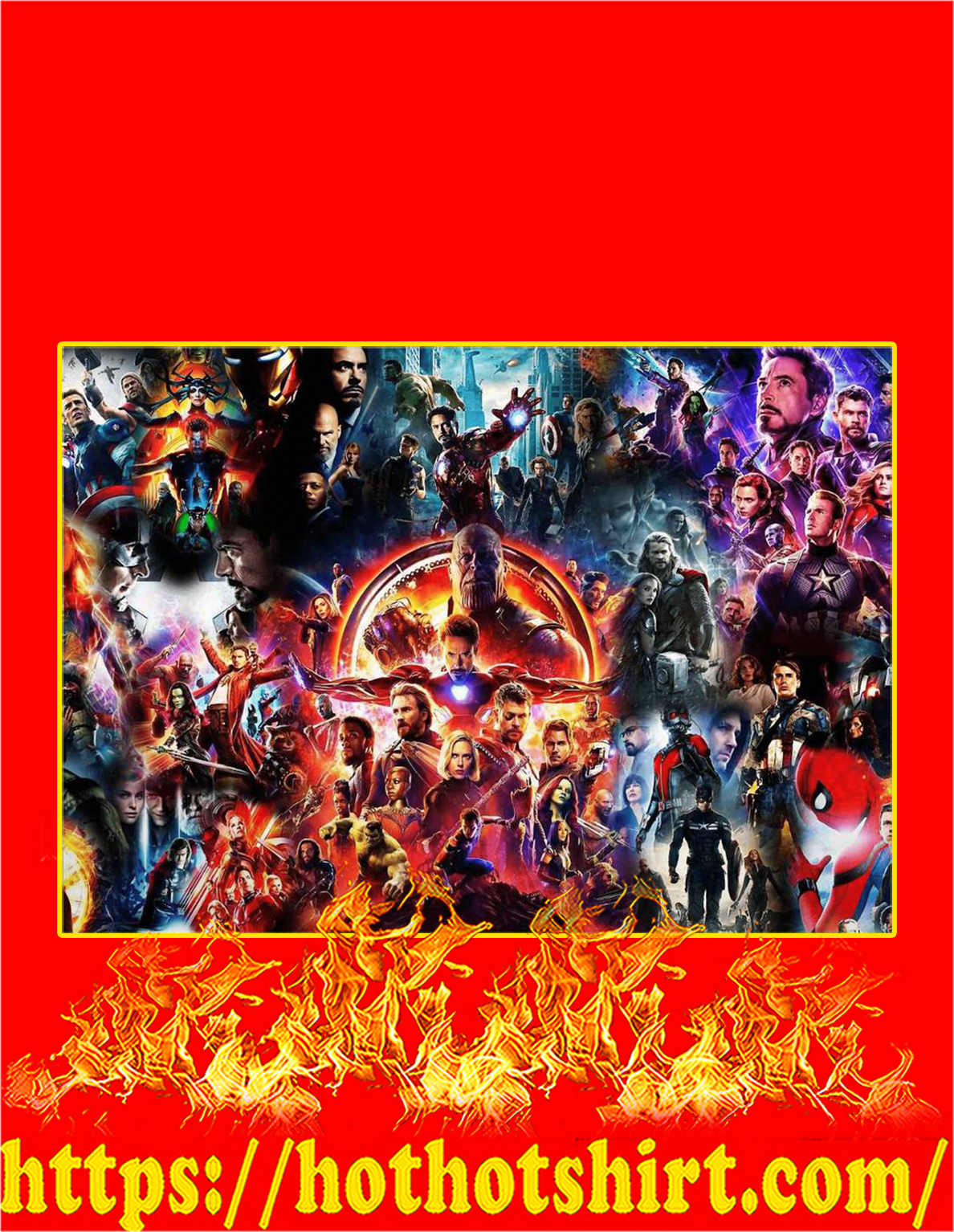 The Avengers End Game Poster - A4