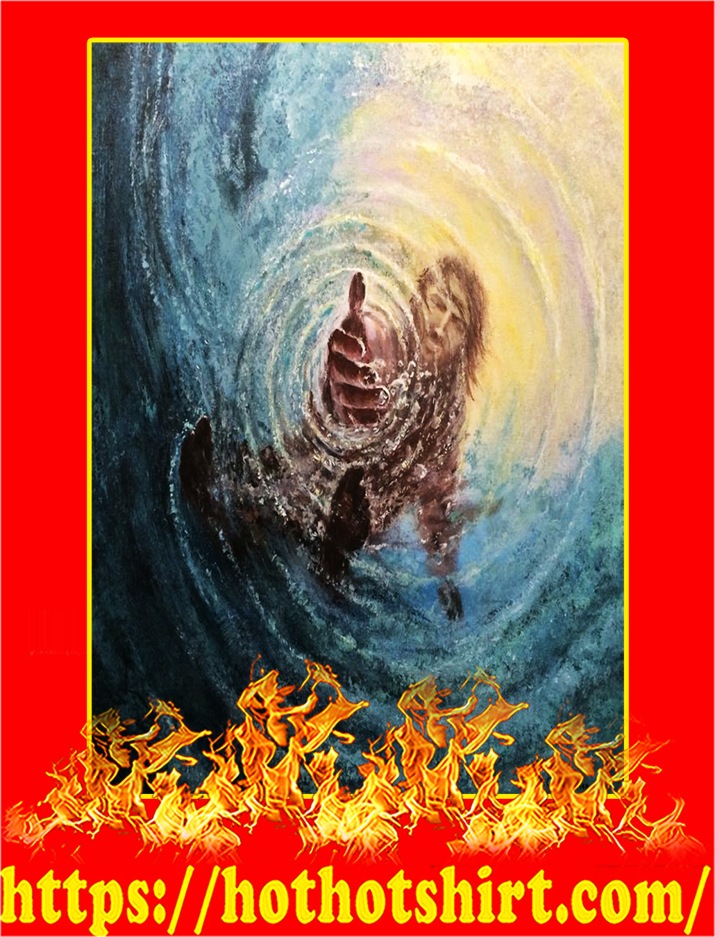The Hand of God Jesus Poster - A2