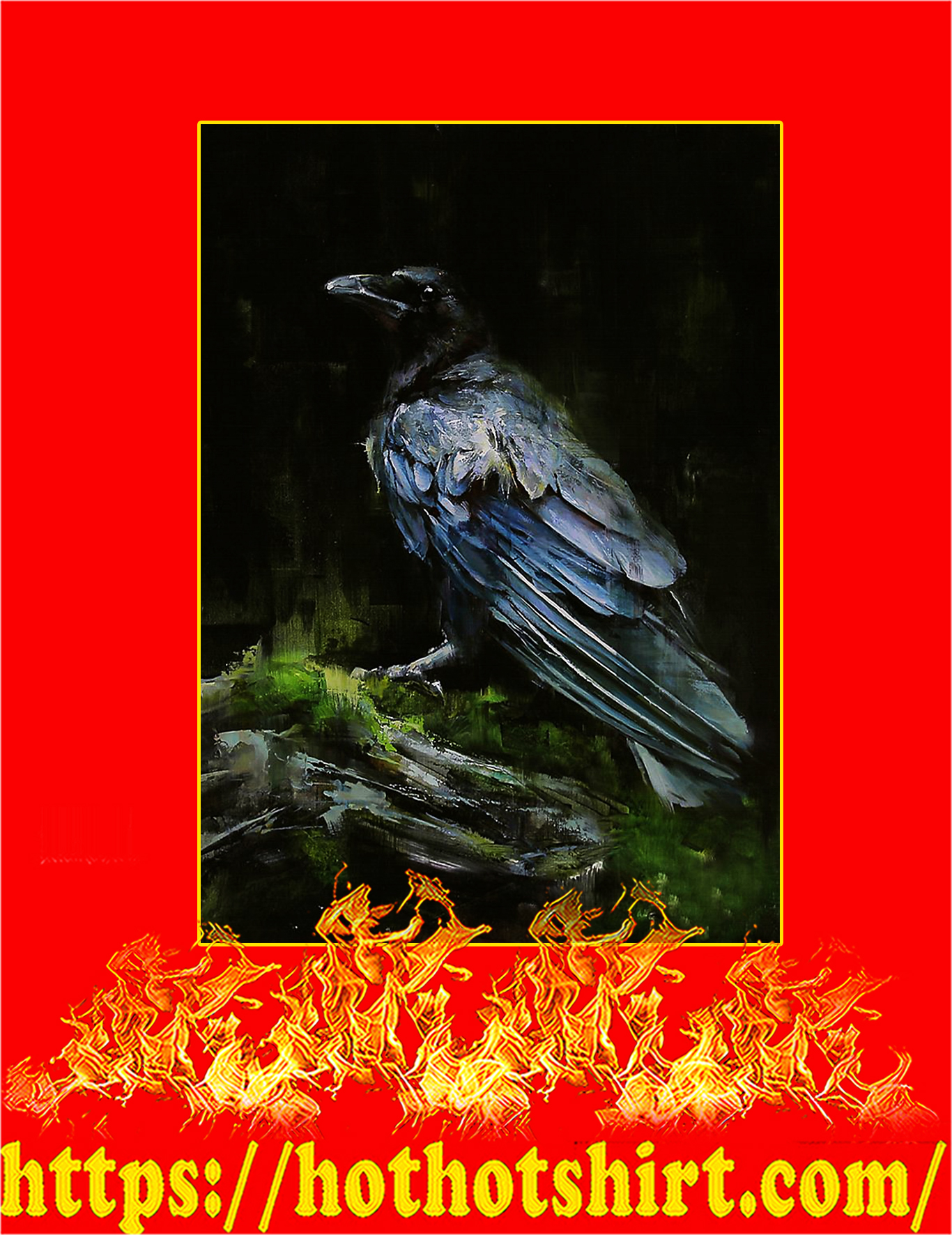 The Raven watercolor printed poster