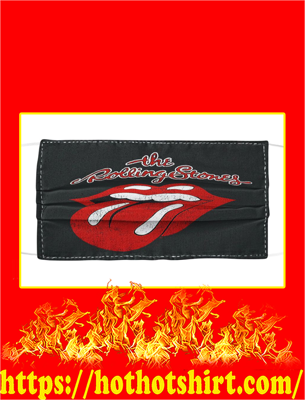 The Rolling Stones Face Mask
