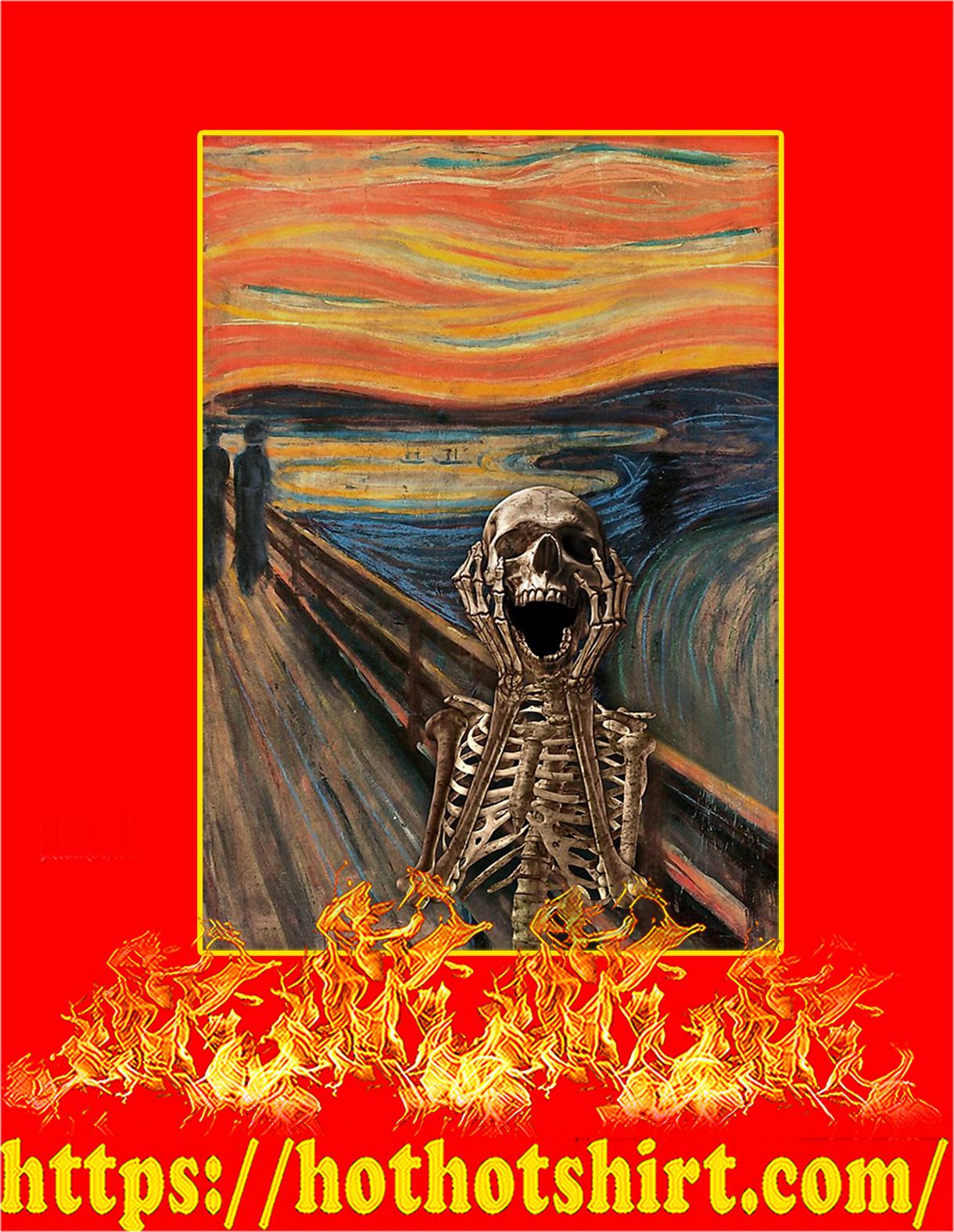 The Scream Skeleton Poster - A2