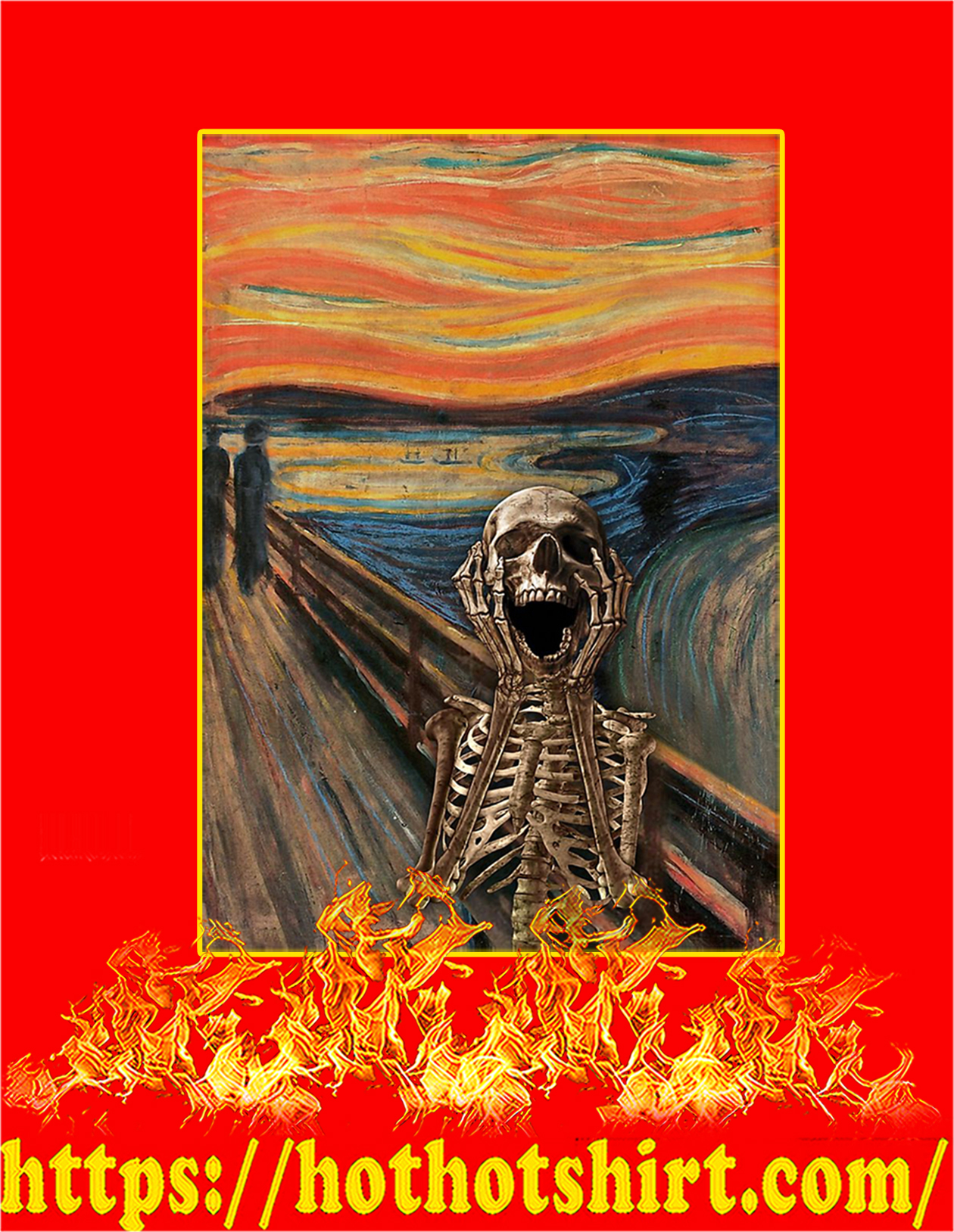The Scream Skeleton Poster - A4