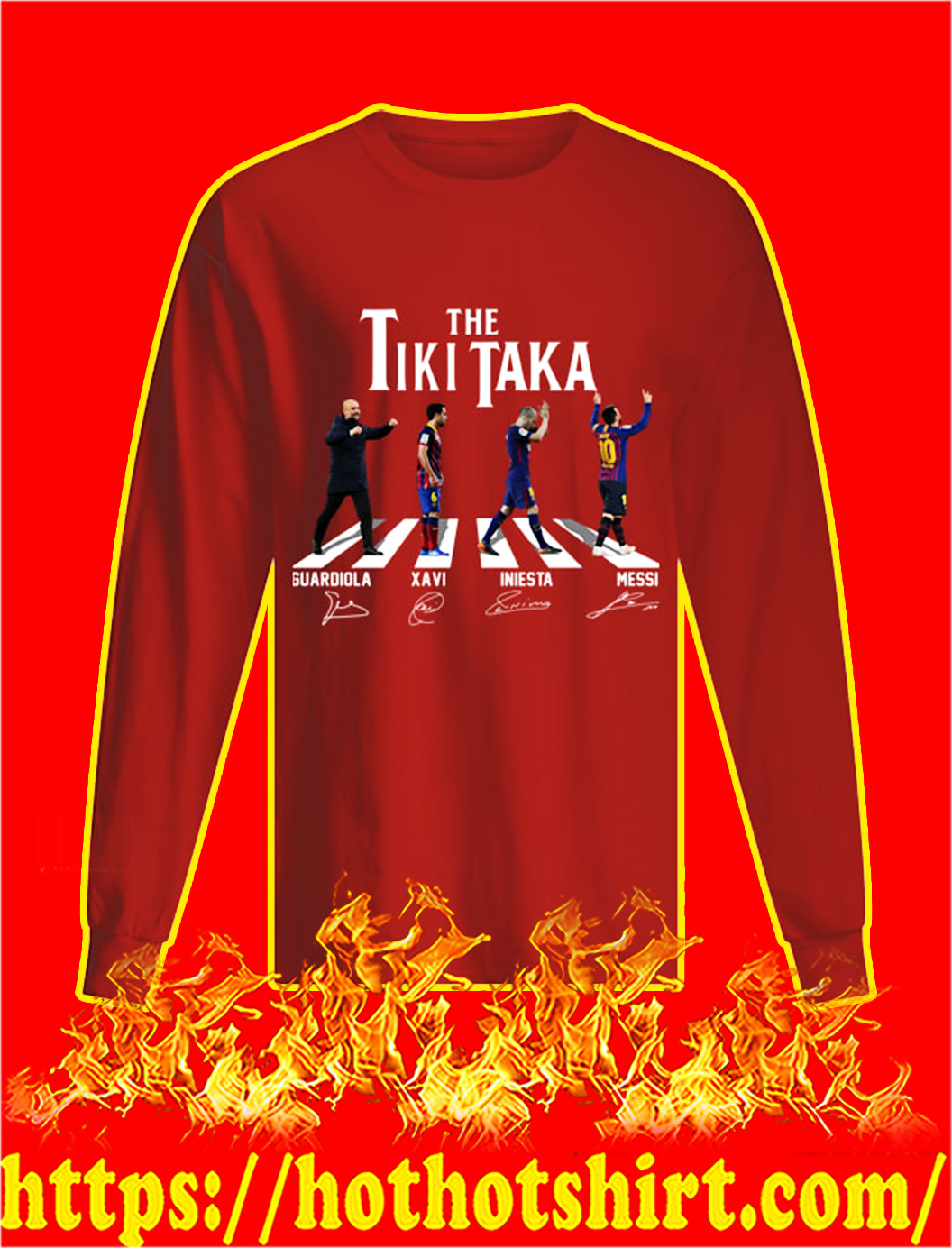 The Tiki Taka Barcelona Abbey Road Signature longsleeve tee