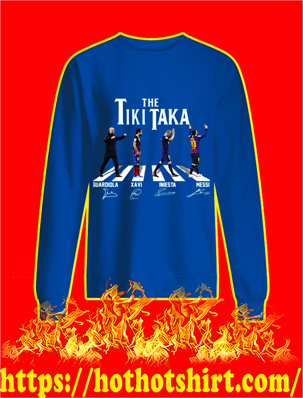 The Tiki Taka Barcelona Abbey Road Signature sweatshirt