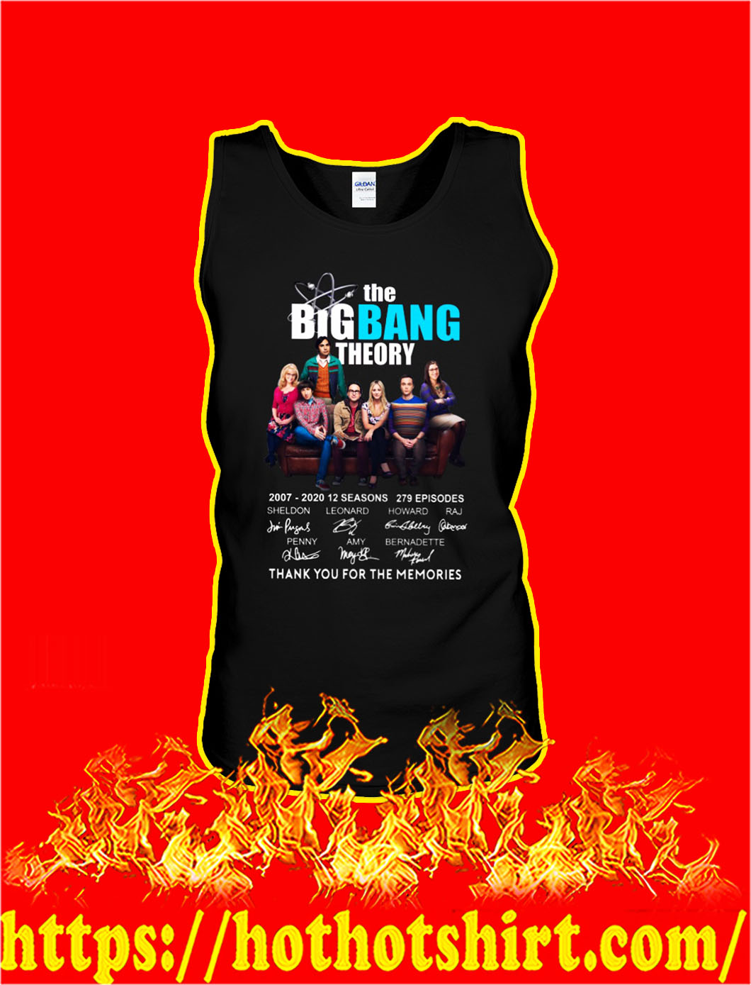 The big bang theory thank you for the memories tank top