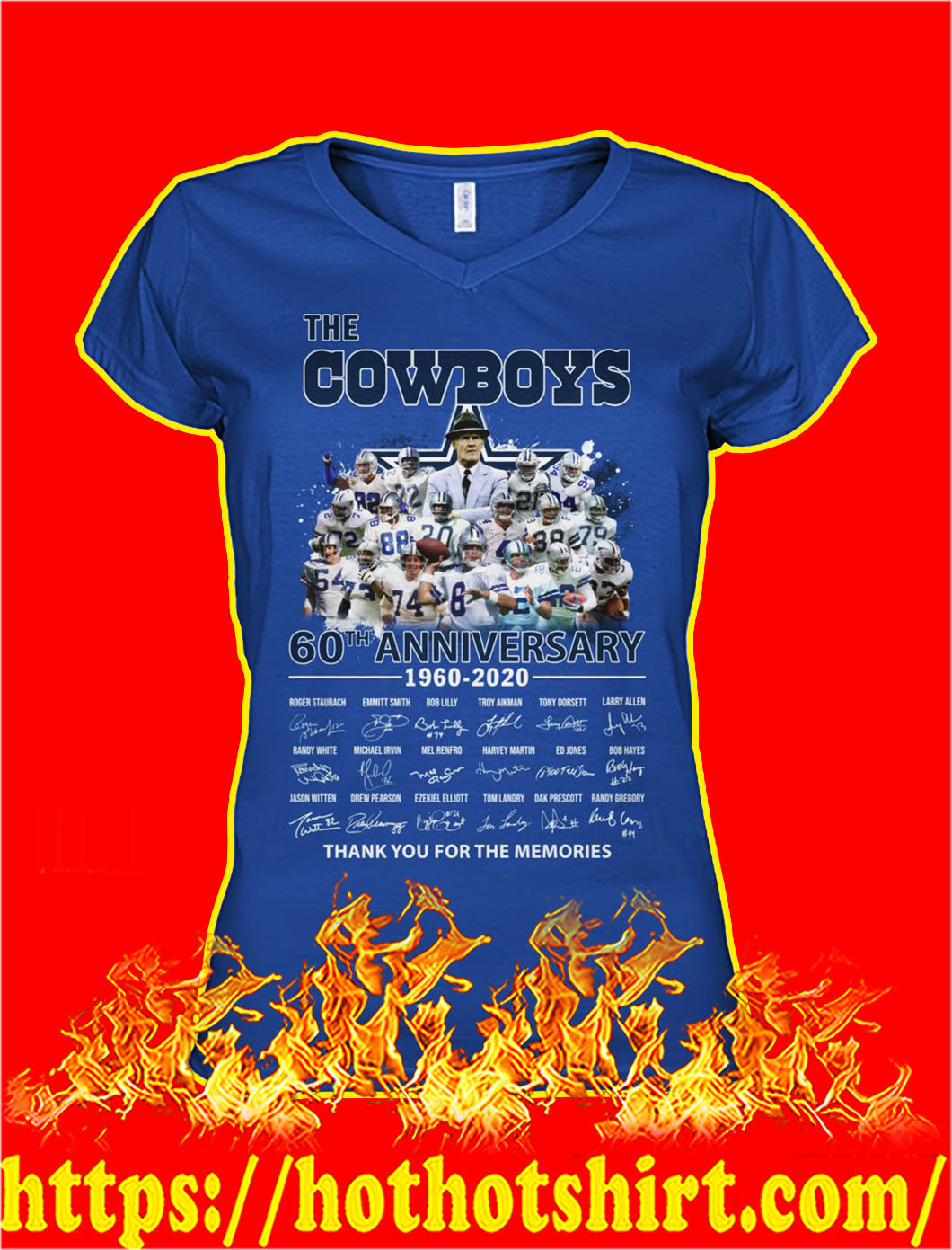 The cowboys 60th anniversary thank you for the memories lady shirt