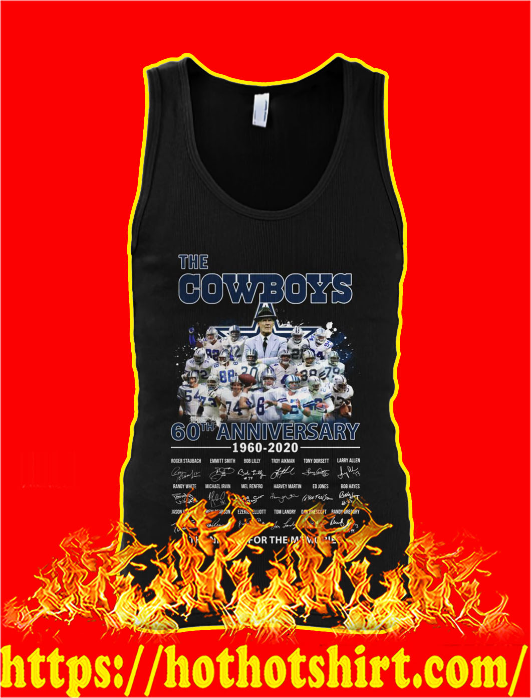 The cowboys 60th anniversary thank you for the memories tank top