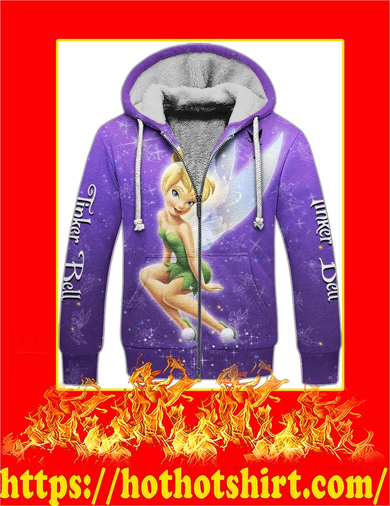 Tinker Bell Purple Magic 3D Fleece Zip Hoodie