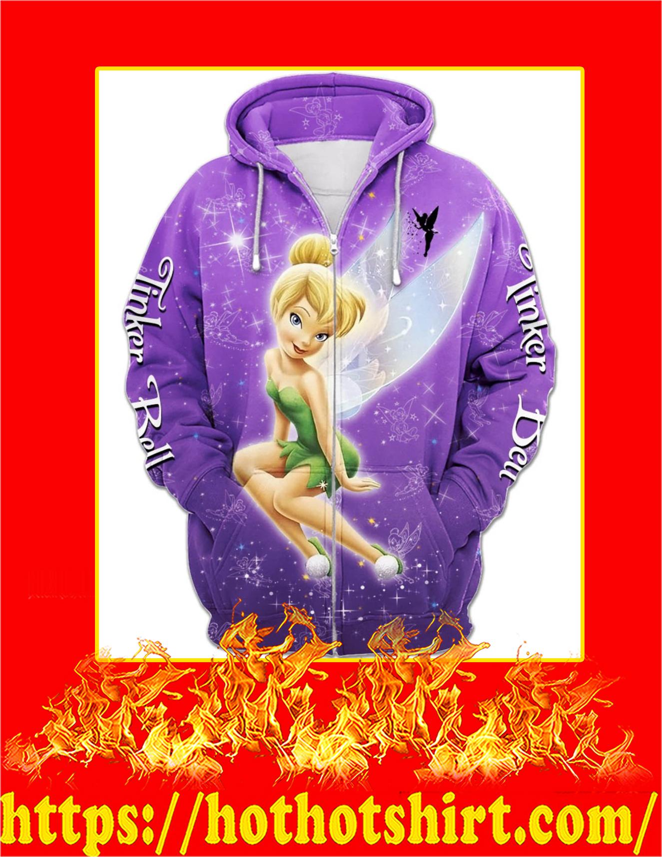 Tinker Bell Purple Magic 3D Zip Hoodie
