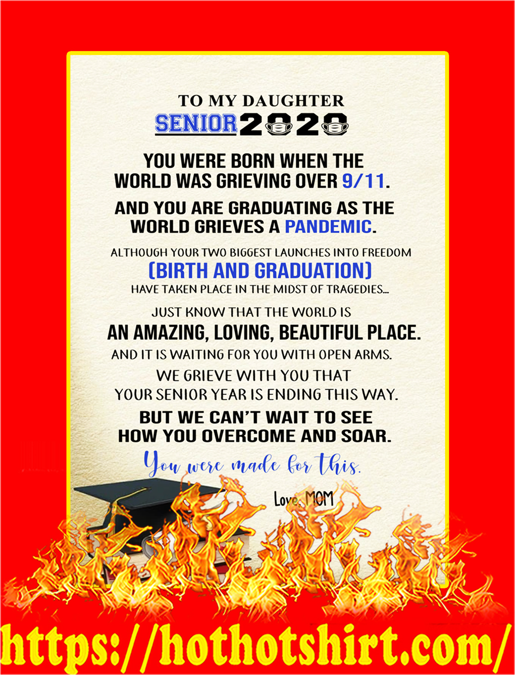 To my daughter senior 2020 mom poster - A3