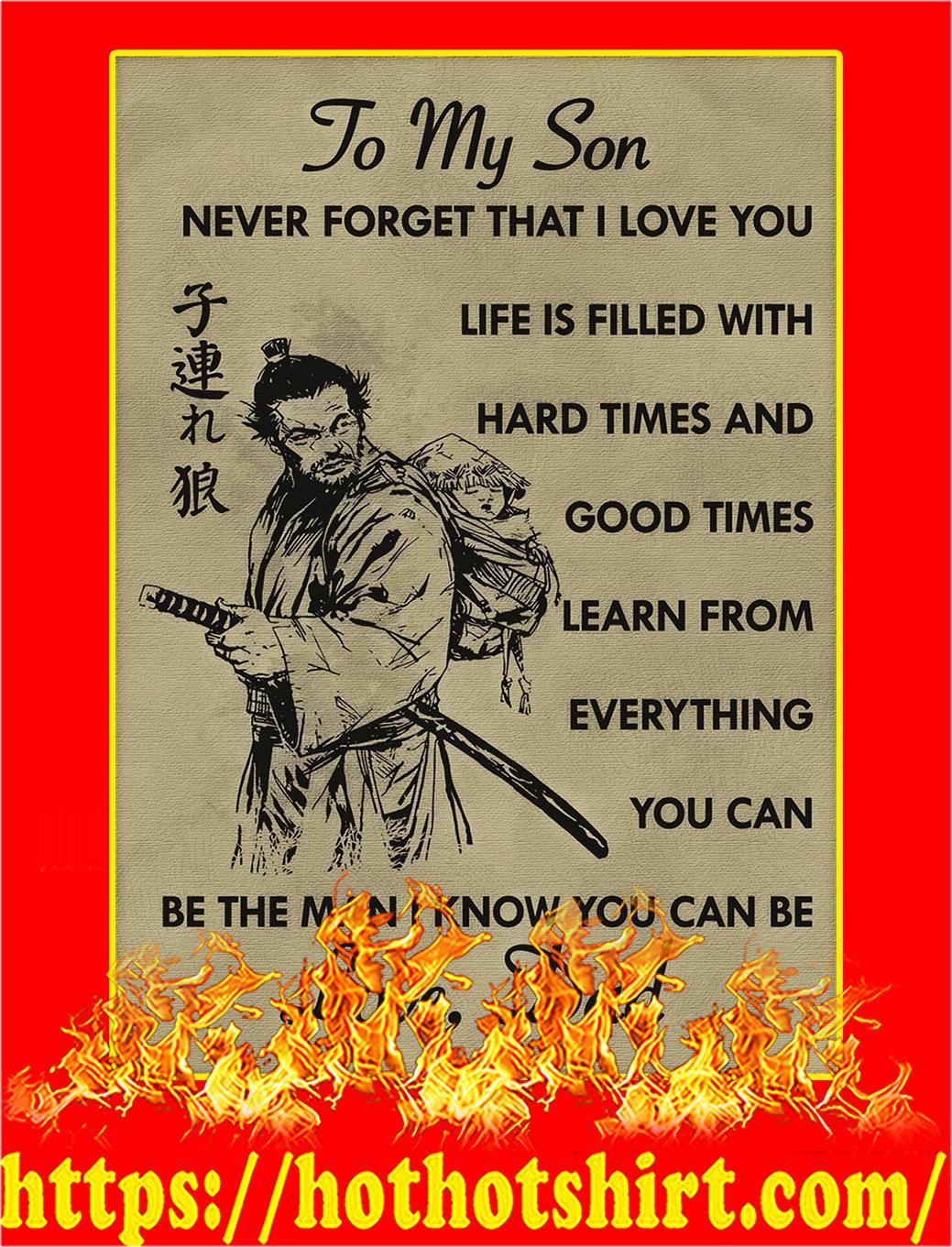 To my son samurai poster - A2