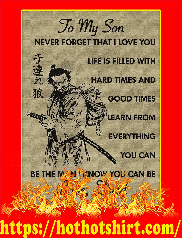 To my son samurai poster - A3