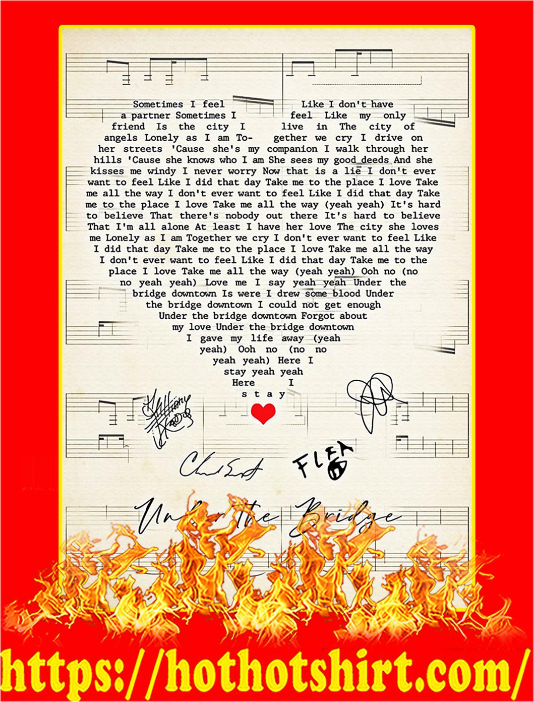Under the bridge signature heart poster - A1