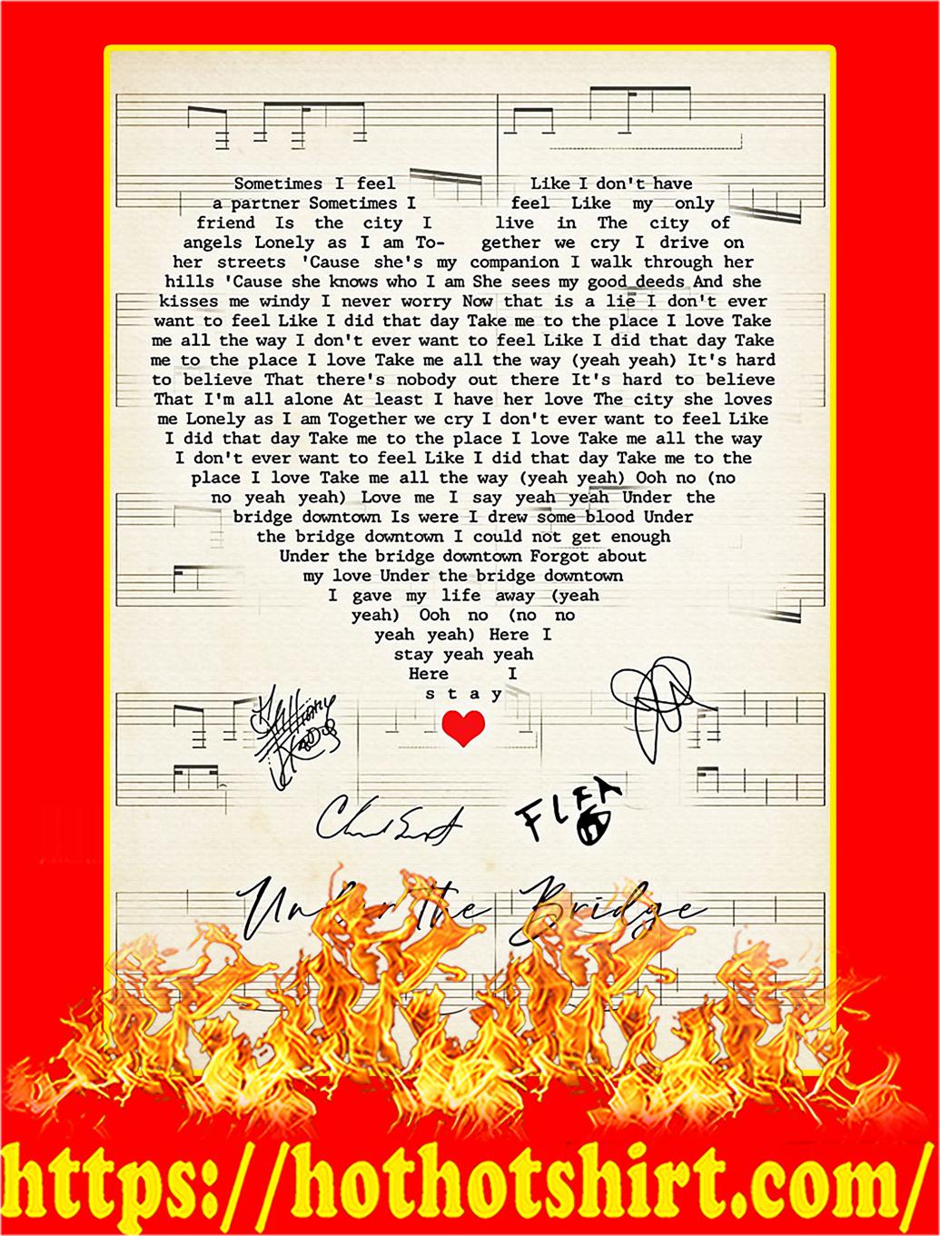 Under the bridge signature heart poster - A3