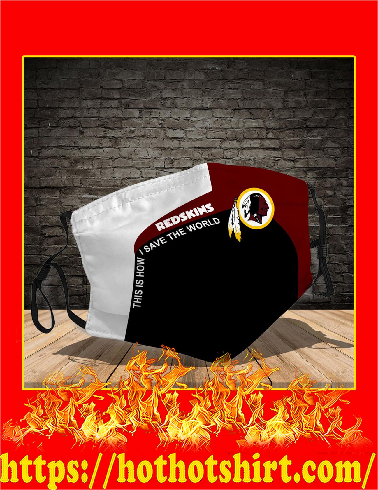 Washington Redskins 3d face mask - detail