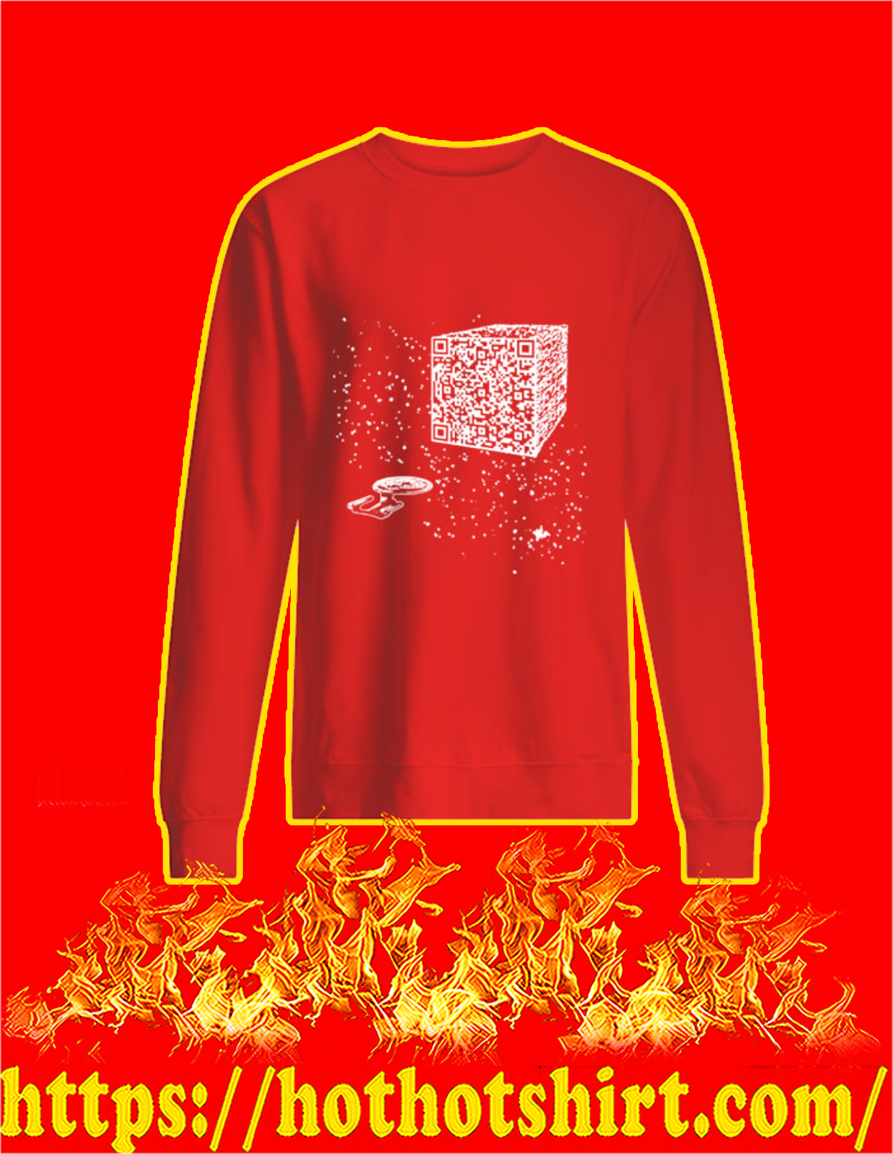 We are the borg cube QR code sweatshirt