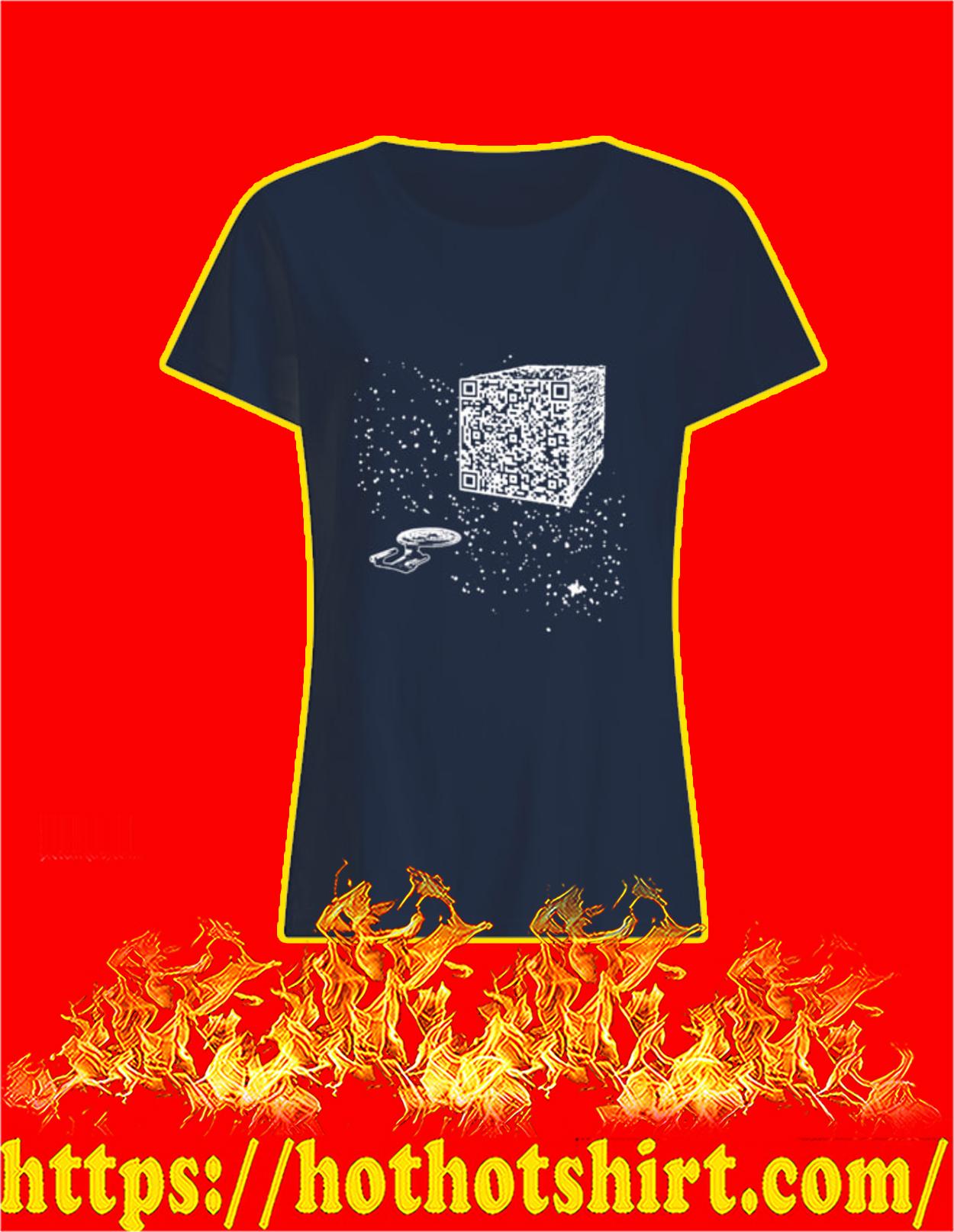 We are the borg cube QR code women shirt