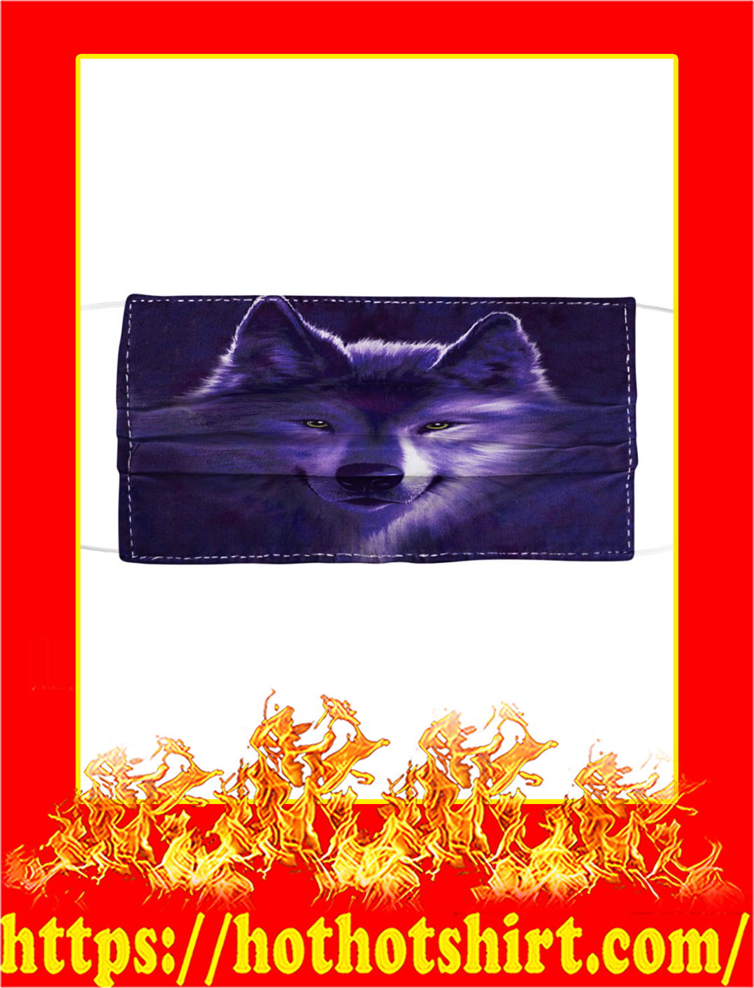 Wolf Cloth Face Mask- pic 1