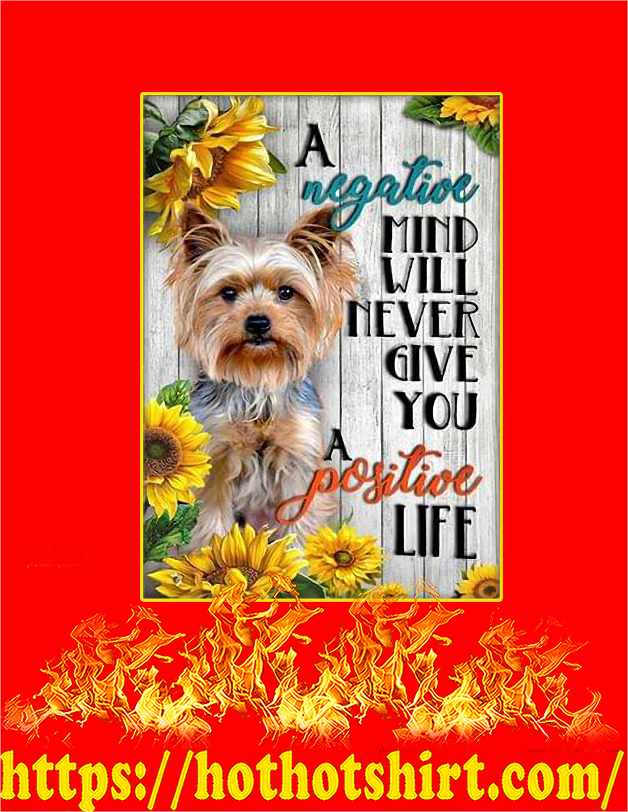 Yorkshire A negative mind will never give you a positive life poster - A3
