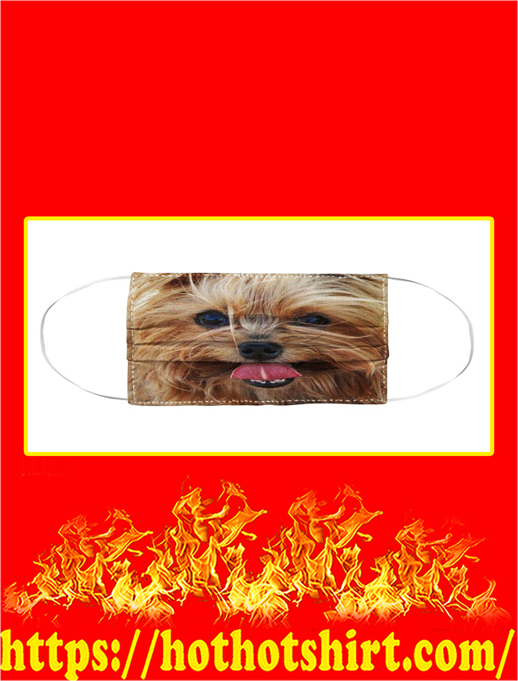 Yorkshire Terrier Cloth Face Mask- pic 1