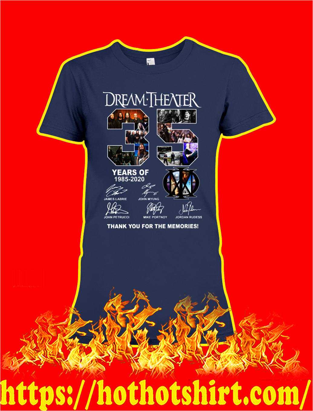 35 years of dream theater thank you for the memories lady shirt