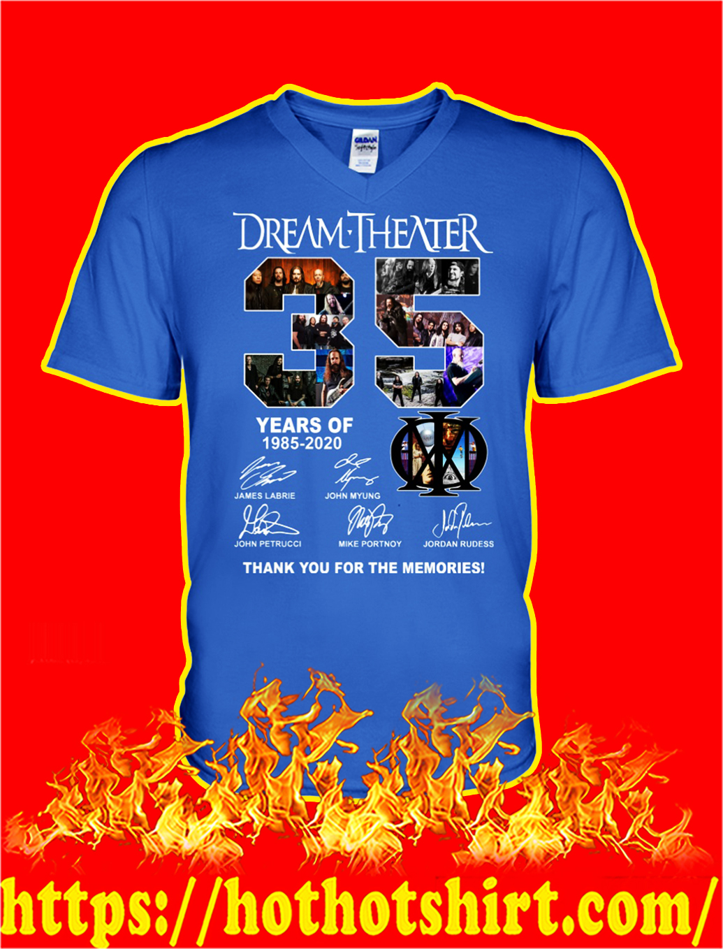35 years of dream theater thank you for the memories v-neck