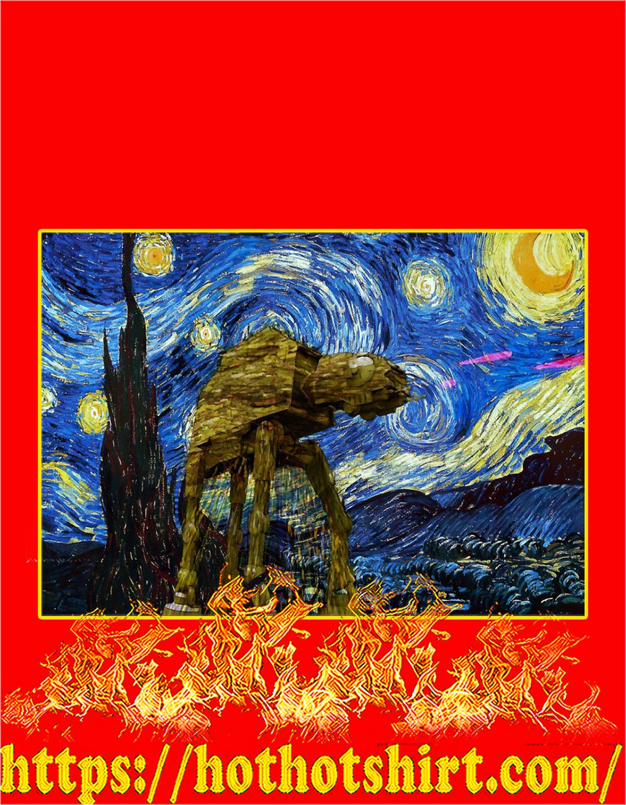 ATAT starry night van gogh poster - A4