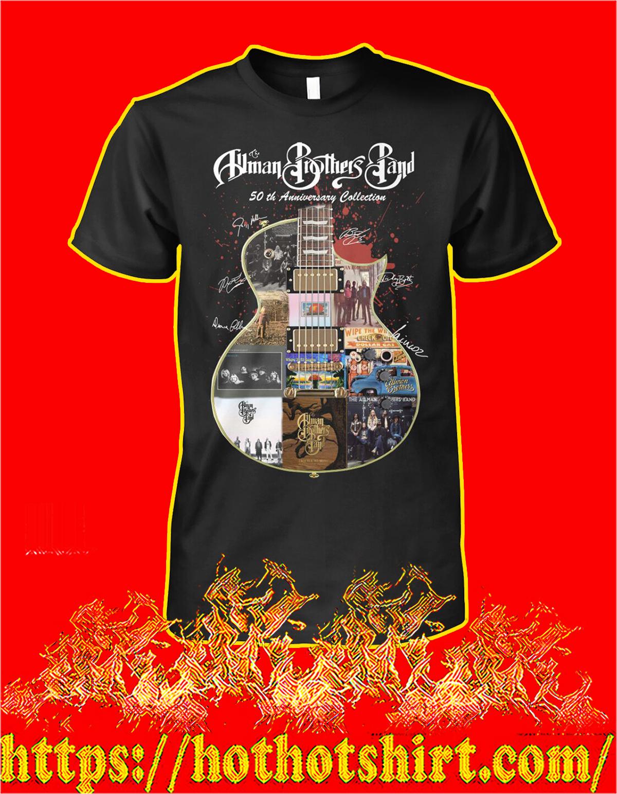 Allman brothers band 50th anniversary collection guitar signature shirt