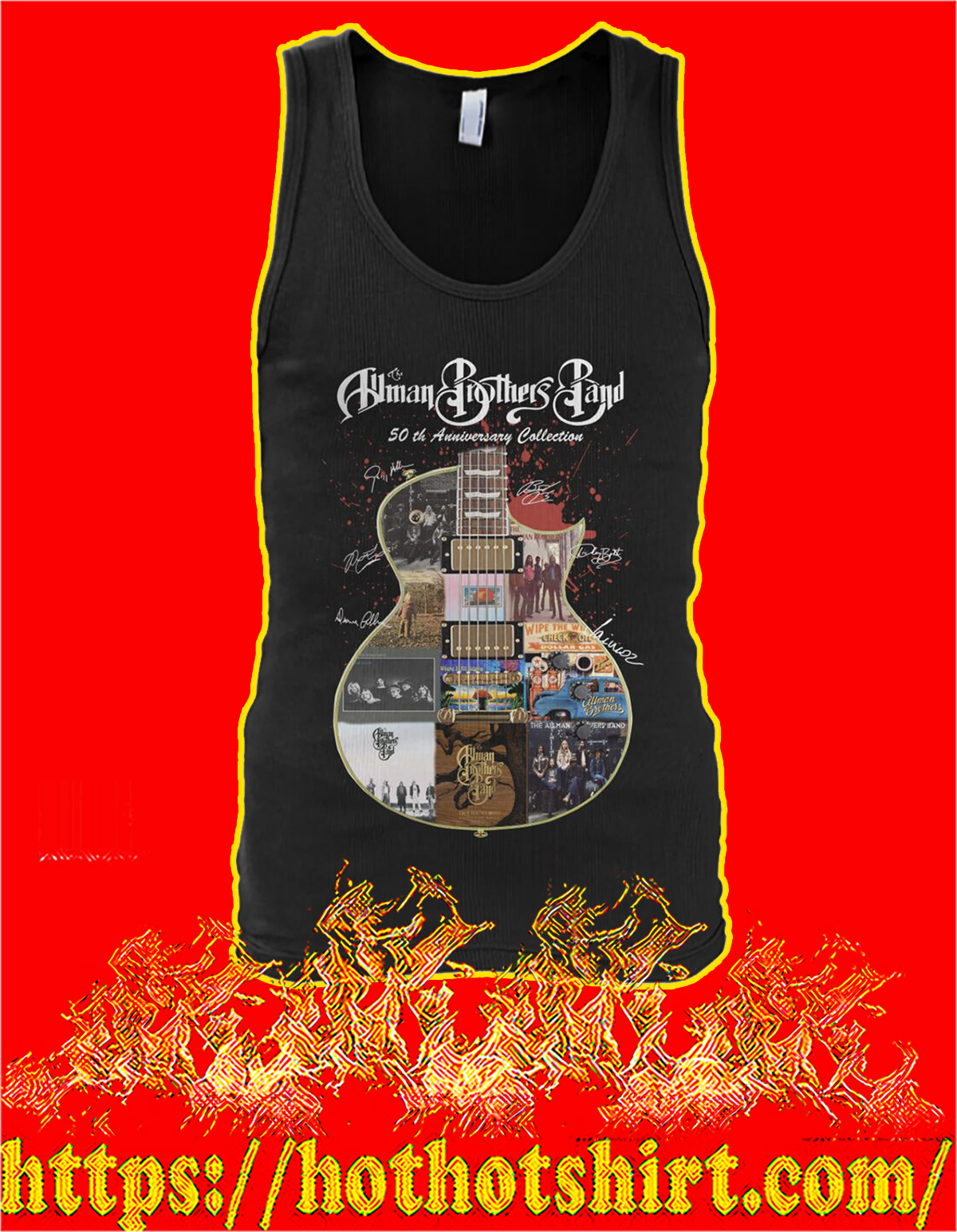 Allman brothers band 50th anniversary collection guitar signature tank top