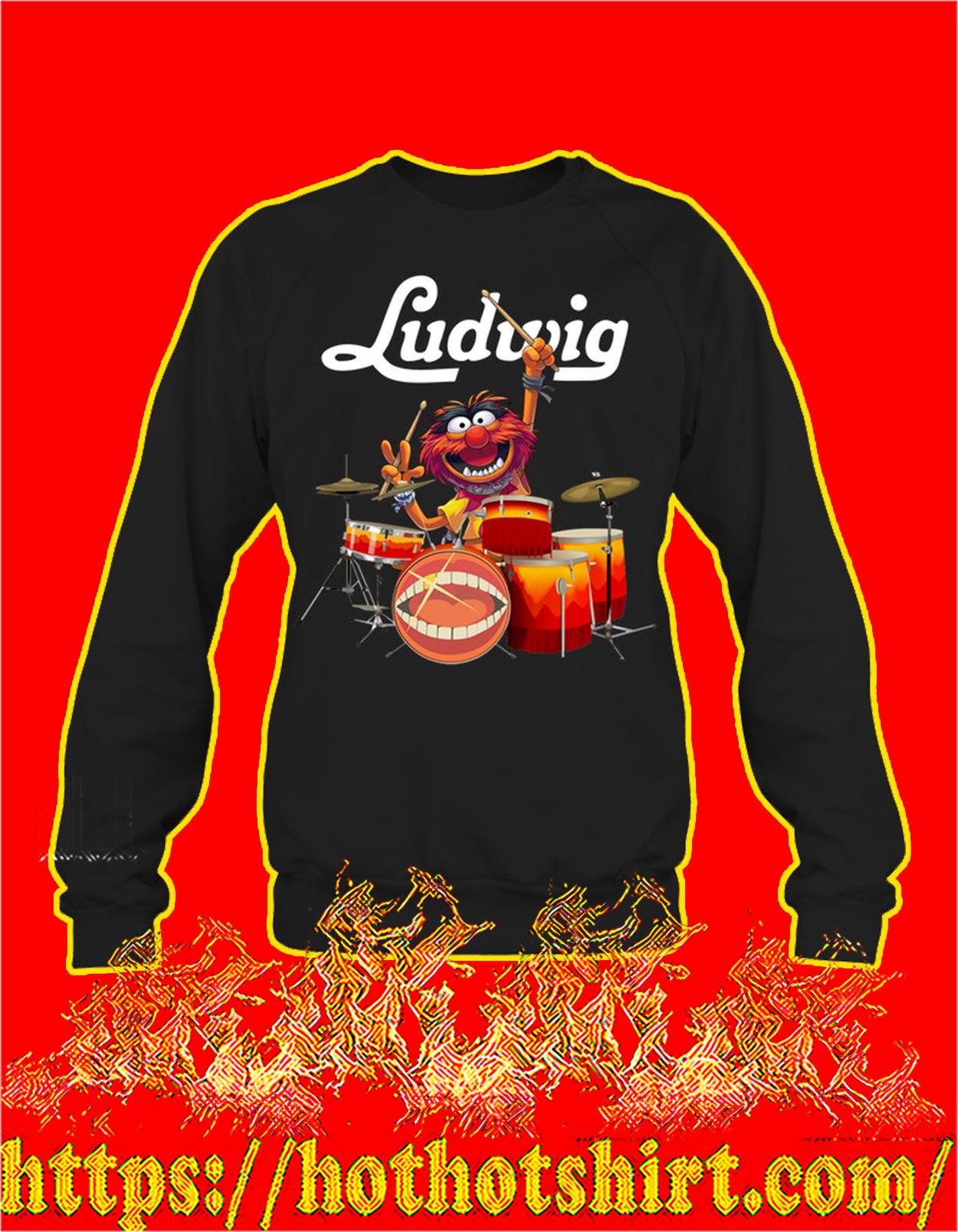 Animal muppet ludwig drums sweatshirt