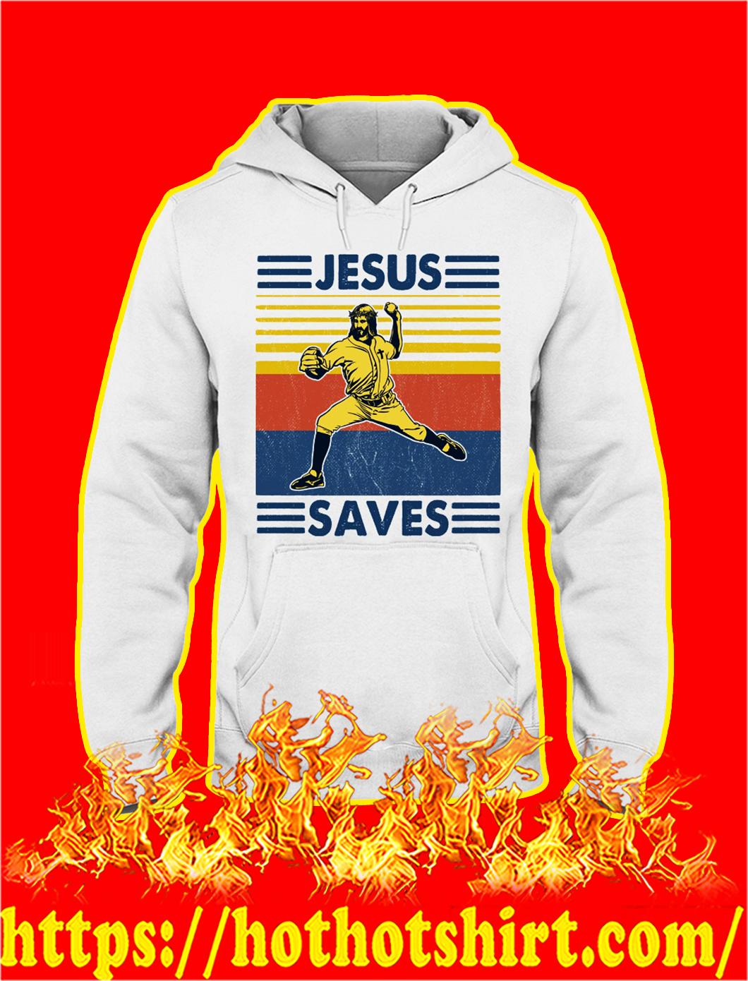 Baseball jesus saves vintage hoodie