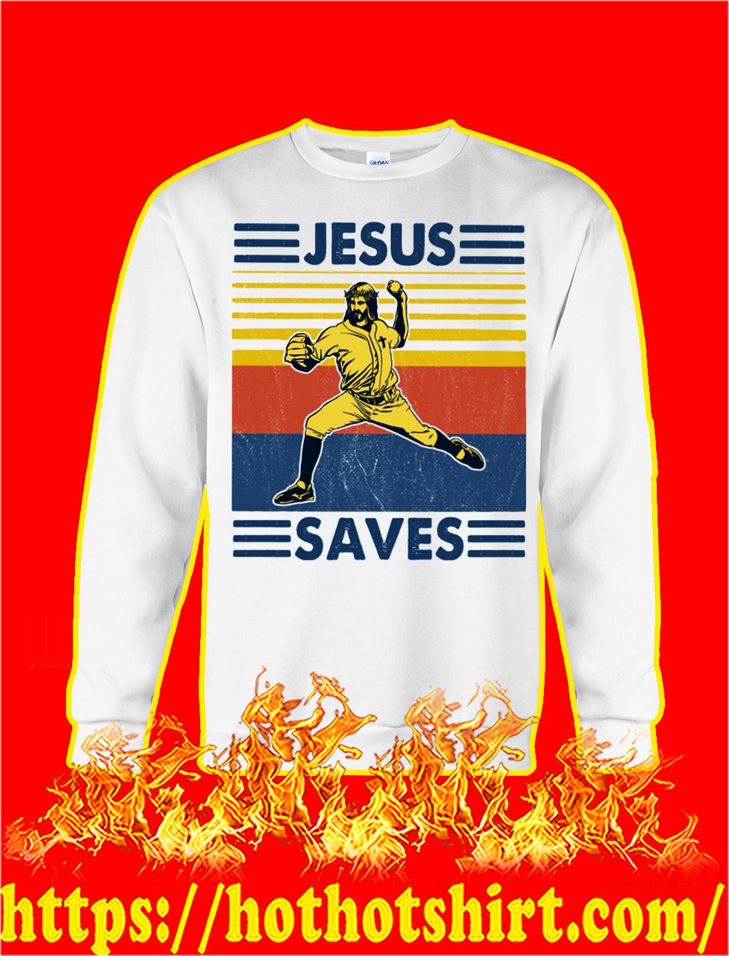 Baseball jesus saves vintage sweatshirt
