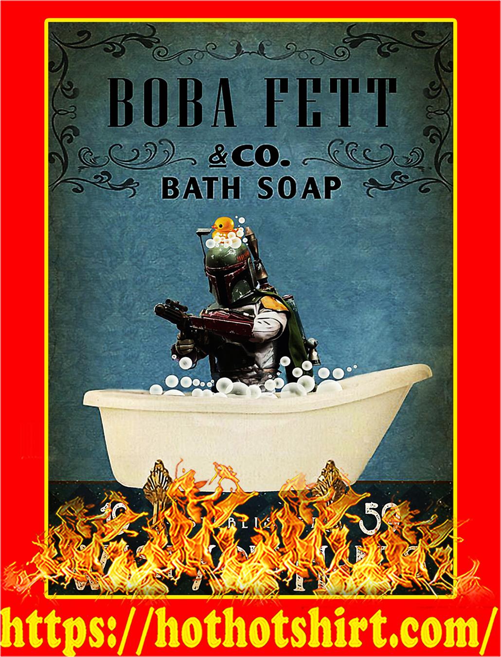 Bath soap company boba bett wash your hands poster - A4